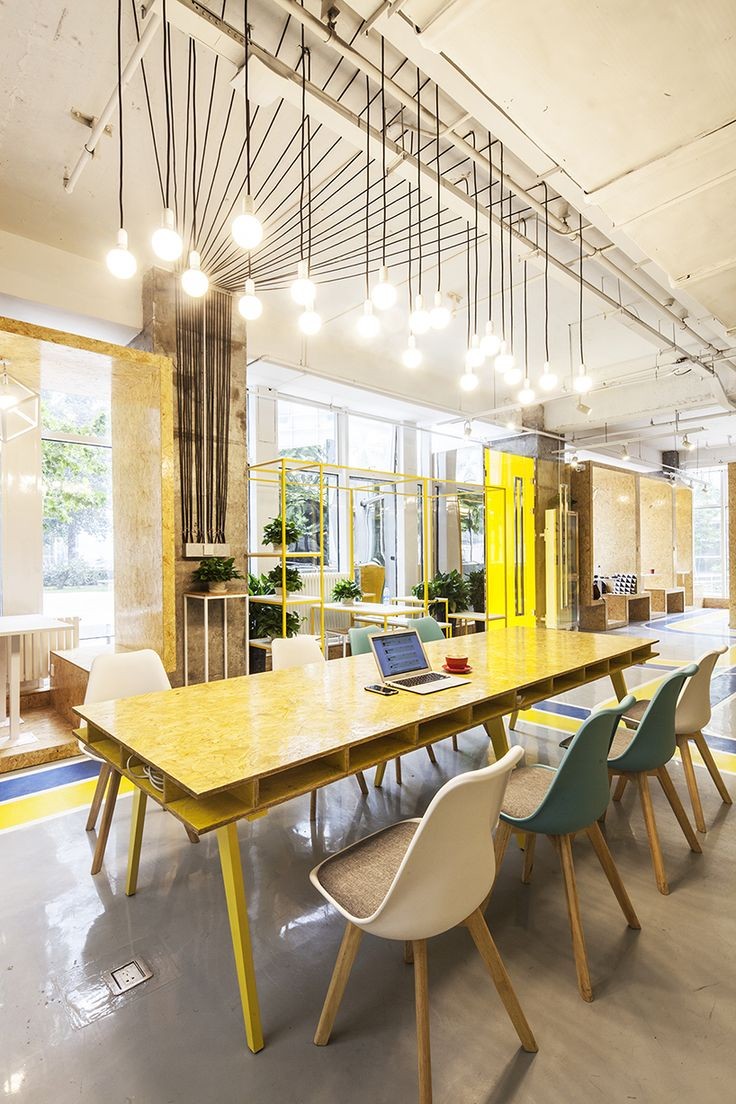creative area, interior design,  office, space, espacio de trabajo, oficina, color amarillo yellow