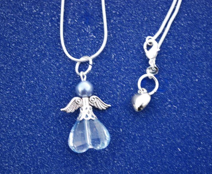 Angel necklace, blue, Leonora