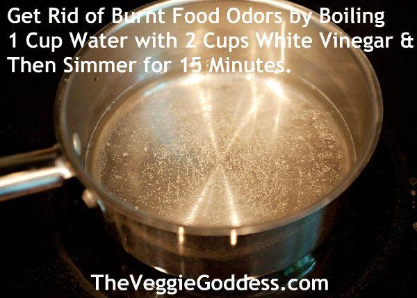 How do you clean a burnt saucepan