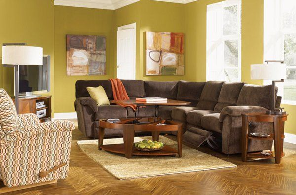 Casual lazy boy sectional sofa for living room fire for Living room 4 pics 1 word