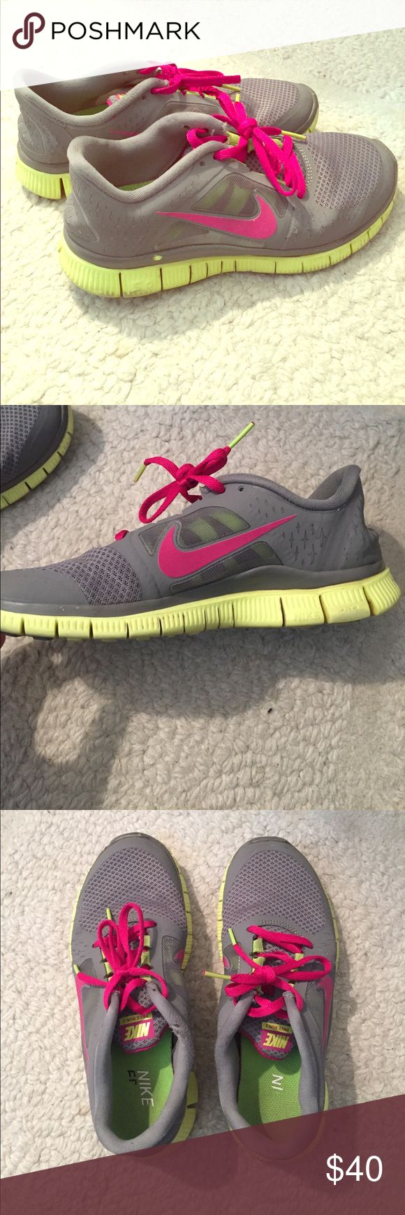 Nike Free Run 3 Nike free runs, good condition, worn (as pictured), left shoe has slight wear near laces, Nike Shoes Sneakers