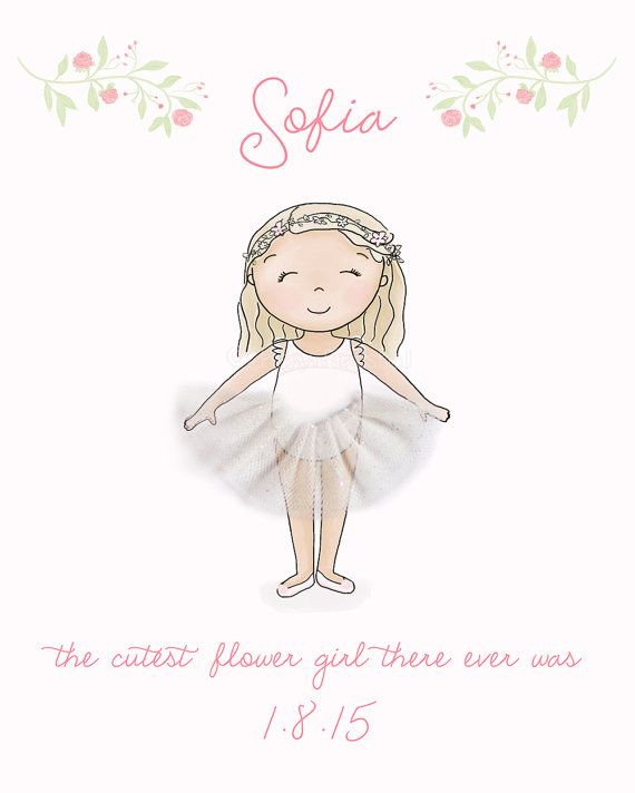 Flower Girl Gift  3D Wall Art by SweetCheeksImages on Etsy $21 AUD