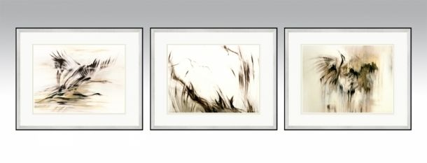 Mix Series in a silver frame and light double passe-partout (Option 1).