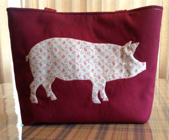 Pink Pig Purse on Etsy, $30.00