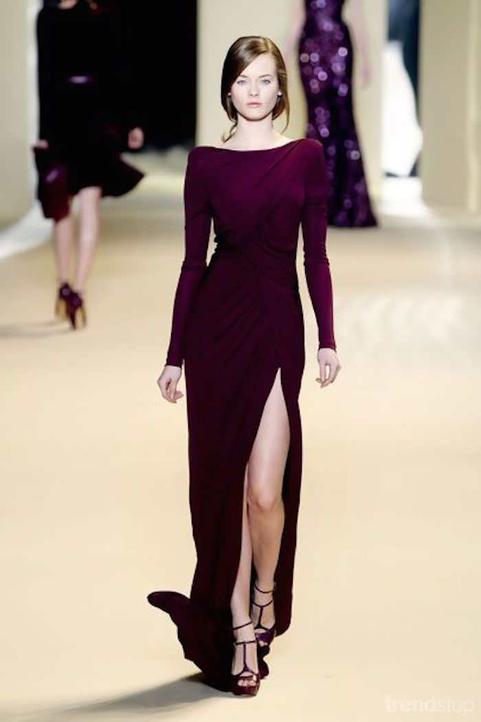 Fall Wedding Guest Dresses to Impress -   Not such a high slit
