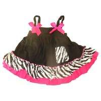 Princess top with Matching Bloomer - Zebra
