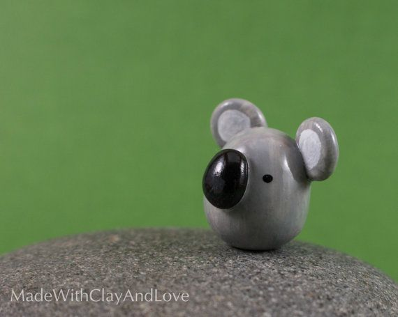 Little Koala  Terrarium Figurine Miniature by MadeWithClayAndLove