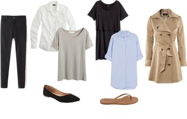 Minimalist travel wardrobe! Check out the airport style, chic explore style. Only four to six clothing items that create the core of the perfect minimalist travel wardrobe.