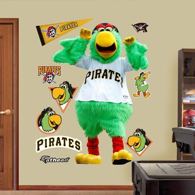 Pittsburgh Pirates Pittsburgh Pirates Parrot Wall Decal Sticker