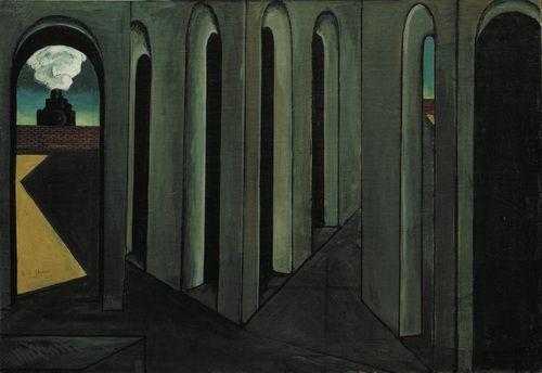 Giorgio de Chirico / The Anxious Journey / 1913 / oil on canvas / MoMa