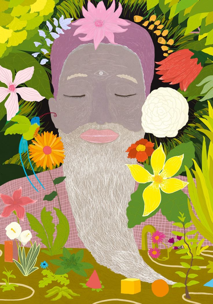 """There is a wonderful secret garden into your mind"" #mindfulness #meditation  During the last months, I'm exploring new ways of making illustrations, focusing on representing our inner world.  ©Alessandro Bonaccorsi www.zuppassion.com"