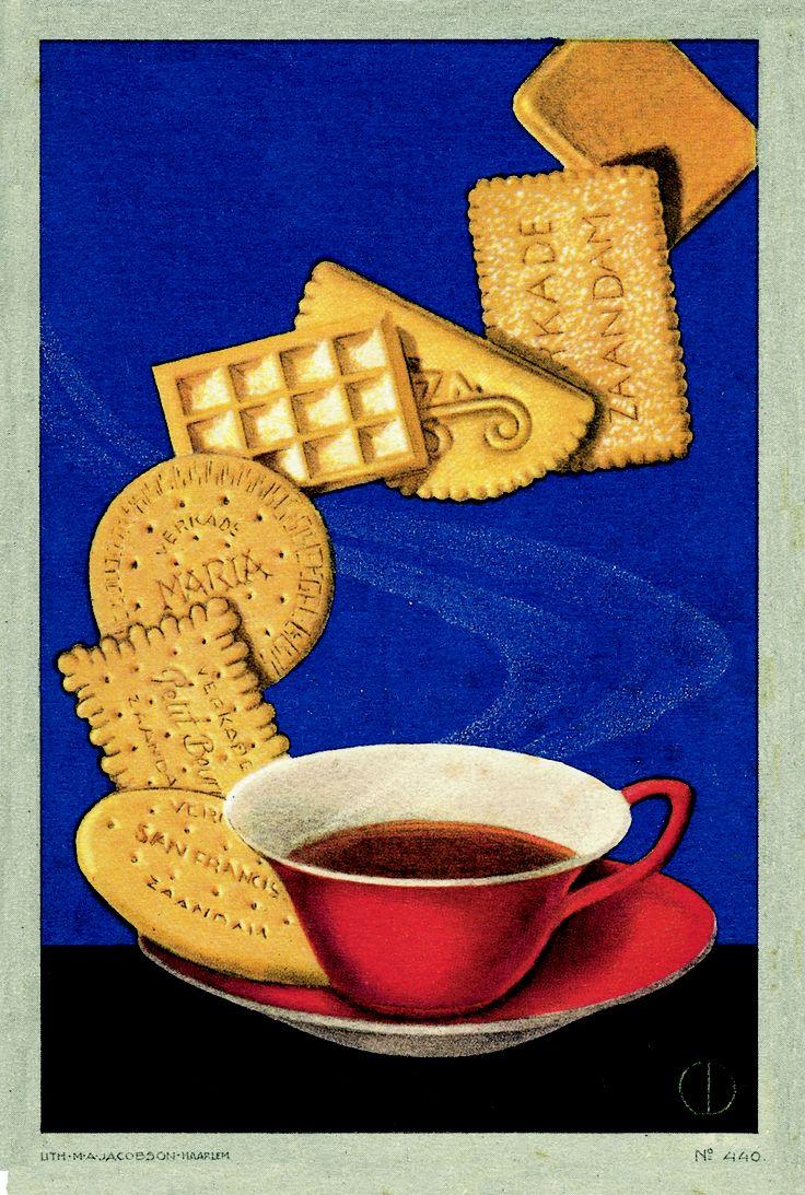 #verkade #reclame #poster #biscuit #Thee #Tea