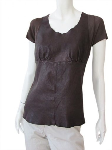T-shirt S/S leather 70% Leather 30% Viscose by Nicolas & Mark - Clothing Women T-shirt On Sale.
