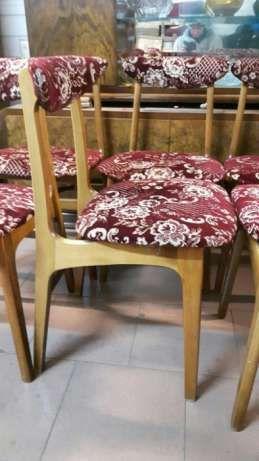 Krzesło prl grzybek super stan okazja 6 sztuk Rybnik • OLX.pl