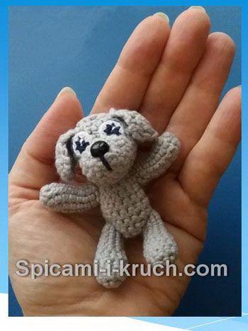 маленькая собачка крючком описание авт вязание вязание крючком