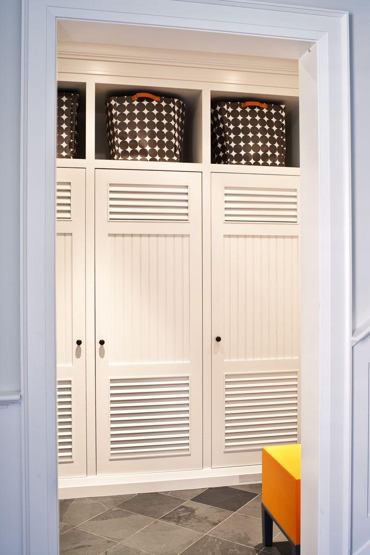Louvered locker doors
