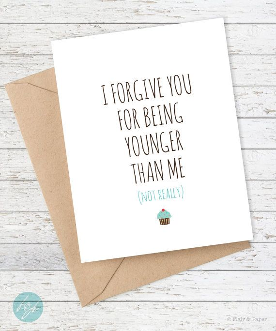 Friend Birthday Card Funny Birthday Card Snarky by FlairandPaper