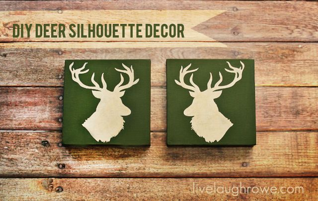 DIY Deer Head Silhouette Decor with LiveLaughRowe.com  I could totally do this...maybe