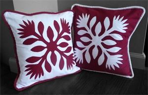 Hawaiian Quilt Pillow Covers.  Aloha Designs.
