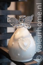 Riverdale Angel Crystal Clear White heart