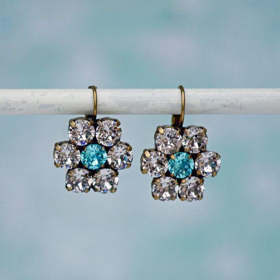 Swarovski Flower Earrings Flower Power by FrenchAtticDesign