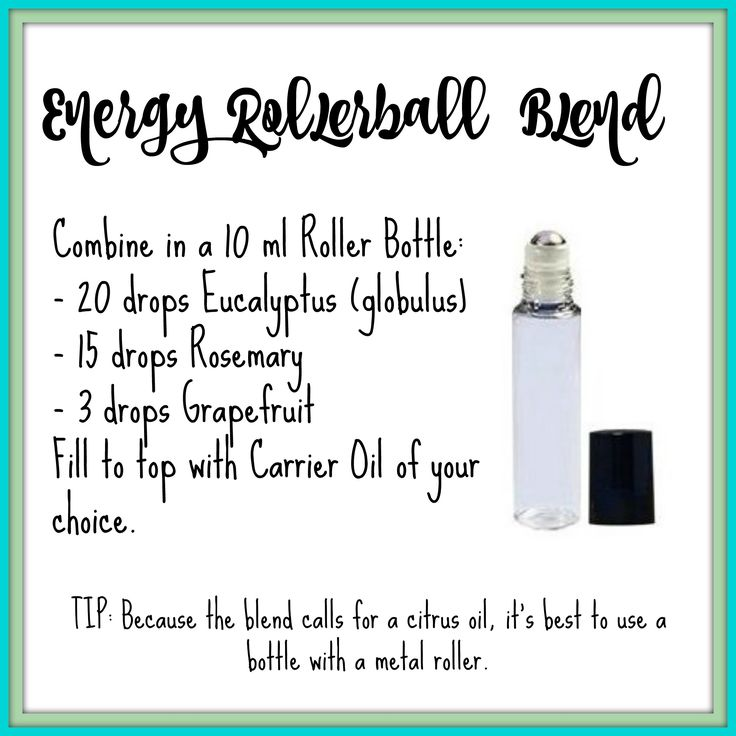 Essential Oil Energy Roller Blend Recipe | Young Living Essential Oils                                                                                                                                                      More