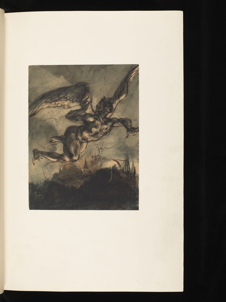 Goethe, Faust, 1828. Original drawings and lithographs by Delacroix. Volume available on bodmerlab.unige.ch #bodmerlab