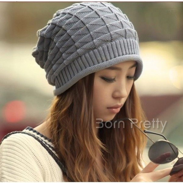 $5.43 1Pc Hot-Sell Warm Hat Delicate Patterns Knitted Headwear - BornPrettyStore.com