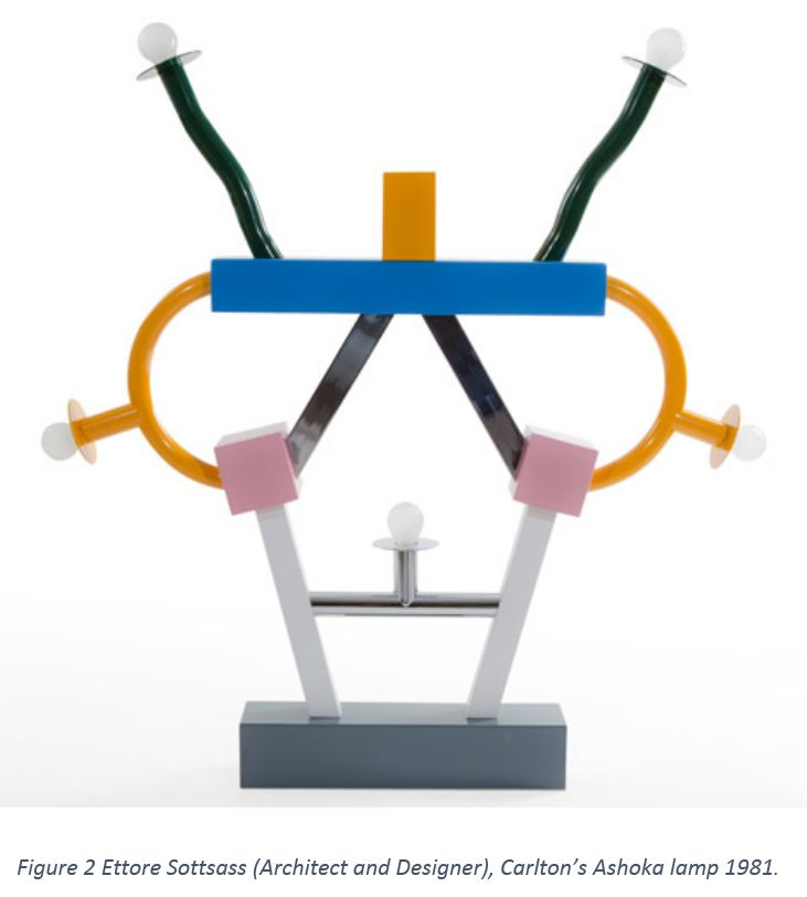 Figure 2 Ettore Sottsass (Architect and Designer), Carlton's Ashoka lamp 1981.