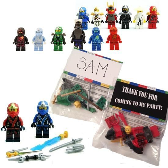 ninja building men party favors 12 lego ein spielerisches motto f r den kindergeburtstag. Black Bedroom Furniture Sets. Home Design Ideas