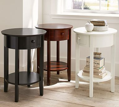 One of these for a side-table in the living room. Julia Bedside Table #potterybarn