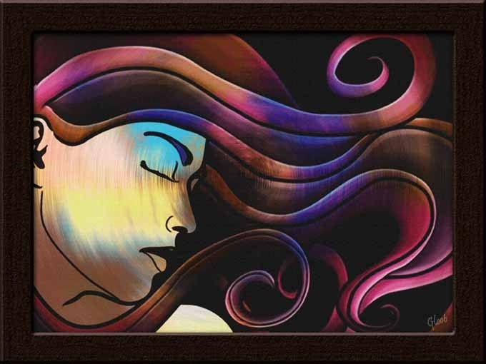 A gorgeous canvas painting for you to add a stylish charm to your home or office interiors. It is perfect for decorating interiors of salons as well!     Get it only on http://www.gloob.in/lady-face-1.html