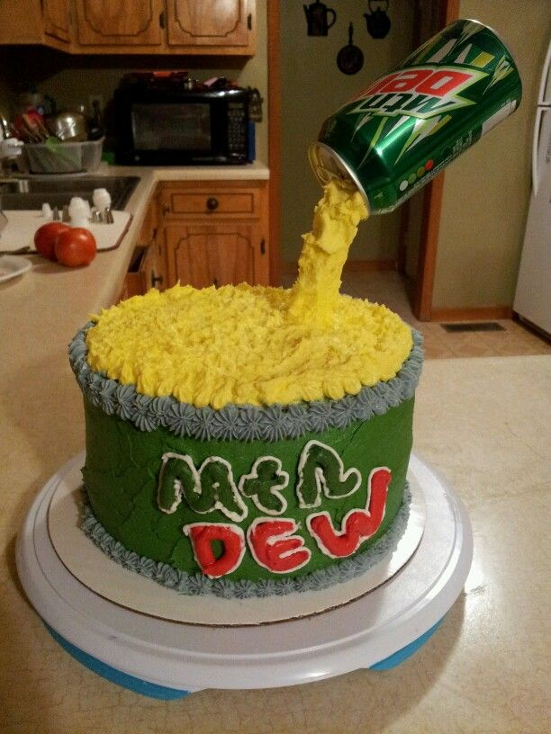 Mtn Dew Birthday Cake