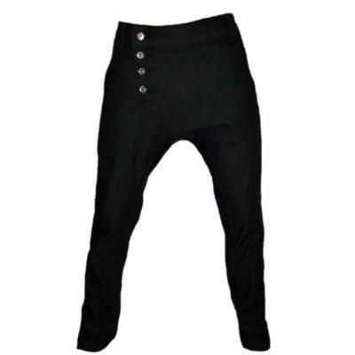 calça saruel jeans escuro