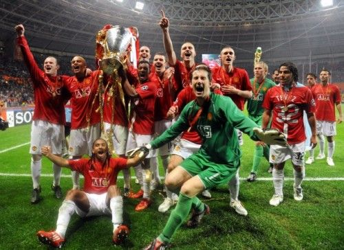 Man Utd Win UEFA Champions League, v Chelsea, 2008