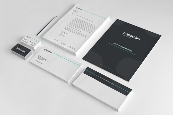 GRZEŚKI Budownictwo - Corporate Identity on Behance