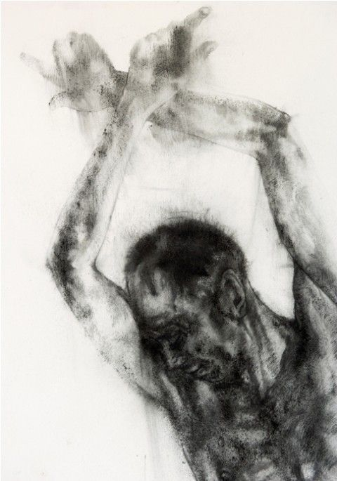 Candle flame drawing by South African artist Diane Victor, from the Transcend series