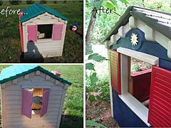 DIY: Before & After: A Little Tikes House Gets a Paint Job