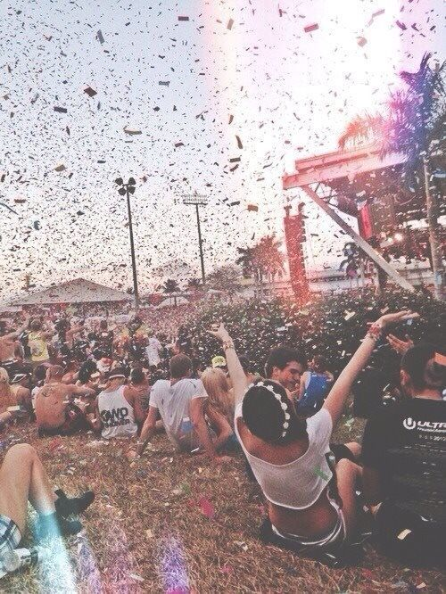 Go to an outdoor concert with all of your friends.