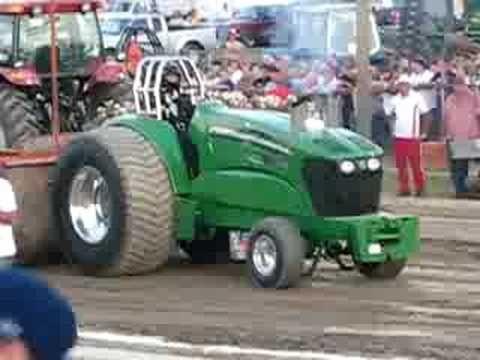 John Deere super stock tractor pull @ Washington County Fair John Raymond - YouTube
