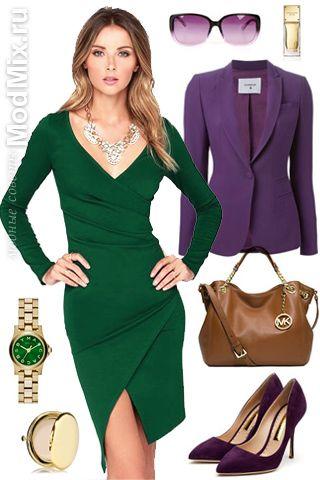 Зеленое платье, с чем носить | Мода 2015, фото, модные советы стилиста, форум
