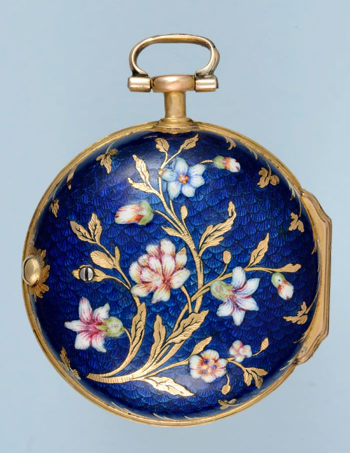Antique Pocket Watches - Unusual Small Gold and Enamel Verge - ca.1740