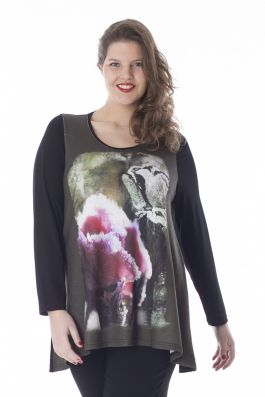 Exelle | curvy fashion | A-line shirt with print