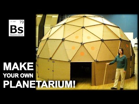 Craig Beals from Beals Science explains how to make a geodesic dome planetarium from cardboard.. Also, learn how to make your own planetarium projector from ...