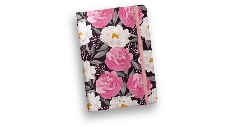 Határidőnapló napi Dolce Blocco 2017 Secret Diary Fine Blossoms (B6/ 12 × 17 cm) - Agendák, határidőnaplók - Nebuló Tanszeráruház