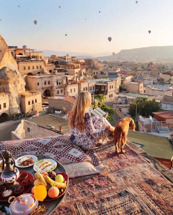 Sunrise on the Rooftop ~~ Sultan Cave Suites ,Cappadocia,Turkey Would be the perfect date