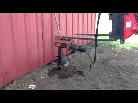Home Made Post Hole Digger Youtube Post Hole Digger Holes Post