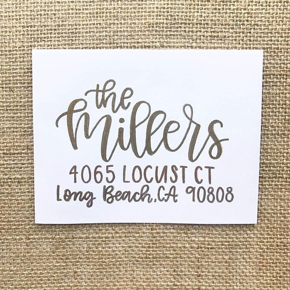 Wedding Envelope Addressing, Wedding Calligraphy Envelope, Hand lettering, Hand lettered, Jordyn Alison Designs
