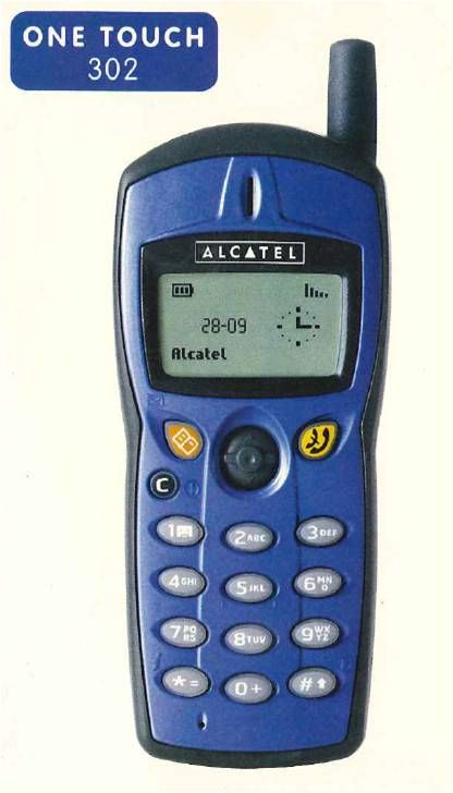 My first cell phone - an Alcatel One Touch 302. I can still hum the ringtone!