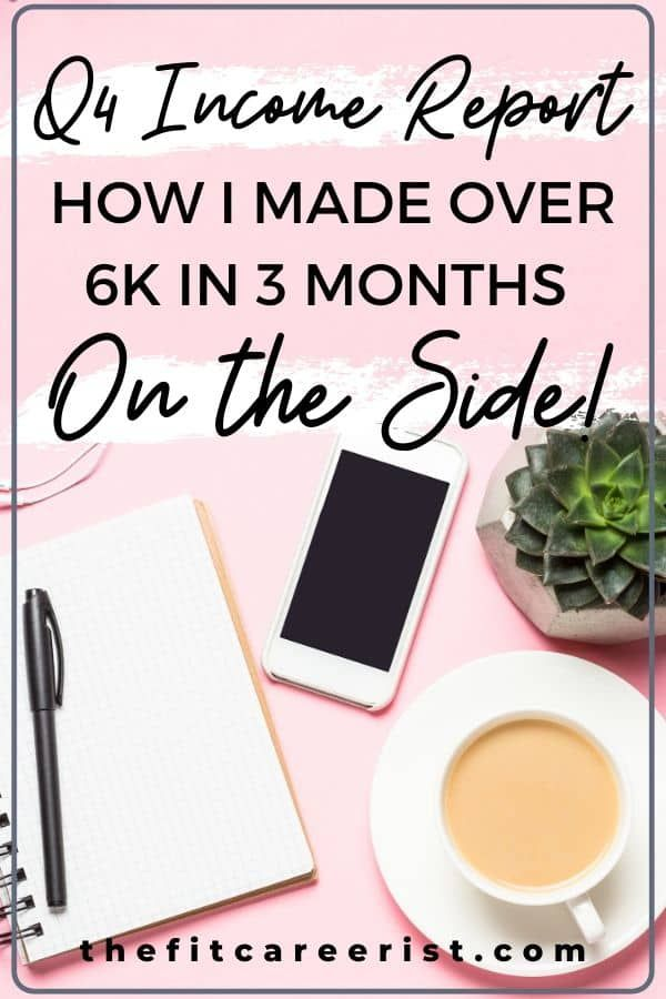Freelance Journey In Review Q4 2019 Side Hustle Income Report The Fit Careerist In 2020 Income Reports Income Freelance Writing
